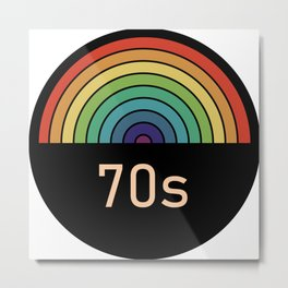 Retro rainbow 70s Metal Print