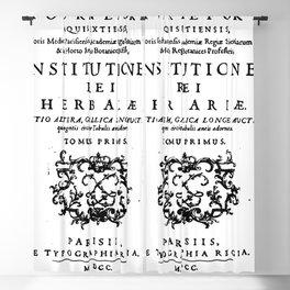 Institutiones Rei Herbariae 1700 Blackout Curtain