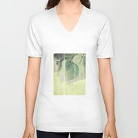 lime V-neck T-shirts featuring lime leaves by PaulaPanther