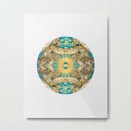 Mandala Gold art Metal Print