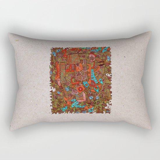 - antiques - Rectangular Pillow