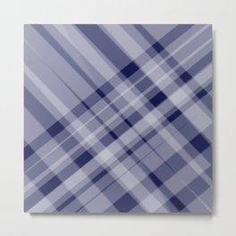 blue and white picnic Metal Print
