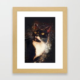 cat Jagoda art #cat #kitty Framed Art Print