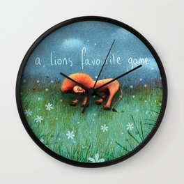 Sleeping lion game Wall Clock