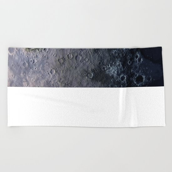 Moon Surface Beach Towel