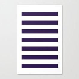 dark purple stripes Canvas Print