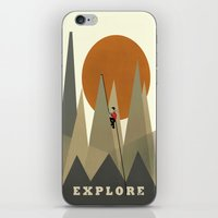 explore iPhone & iPod Skins featuring Explore by bri.buckley