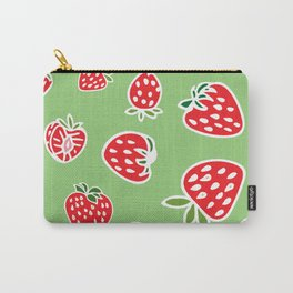 Greenie Strawberries Carry-All Pouch