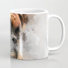 Boxer Dog Thinking Coffee Mug