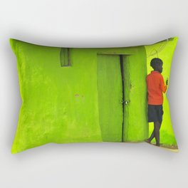 Green House Rectangular Pillow