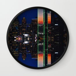 Reflection Reunion | Musical Crime Productions | City Lights Photography | Digital Manipulation Wall Clock