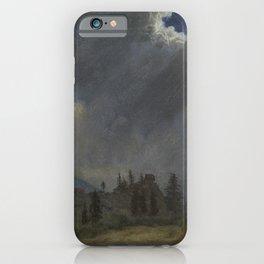 Fir Trees and Storm Clouds by Albert Bierstadt iPhone Case