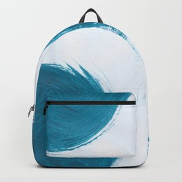 Fire ball, Abstract, Blue Duck Backpack