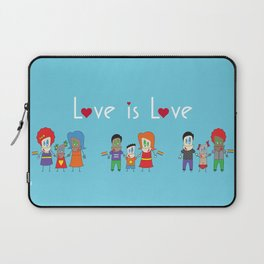 Love is Love Blue - We Are All Equal Laptop Sleeve