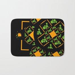 Orange and Green Spaces 105 Bath Mat