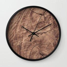 Baesic Wood Grain Texture Wall Clock