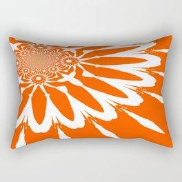 The Modern Flower Orange Rectangular Pillow