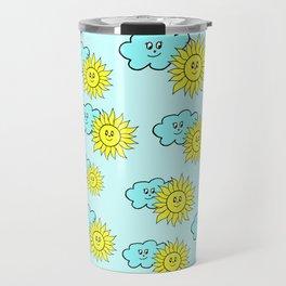 Cute baby design in blue Travel Mug
