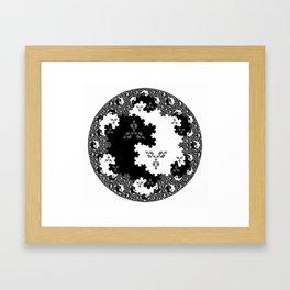 Fractal Taijitu Framed Art Print