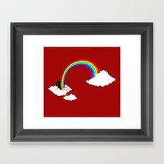 Rainbow TV Framed Art Print