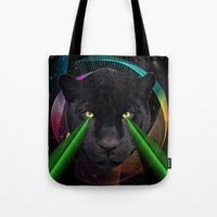 panther Tote Bags featuring Panther by mark ashkenazi