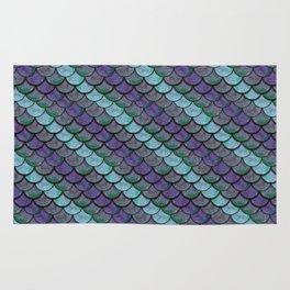 Opalescent Mermaid Scale Stripes Rug