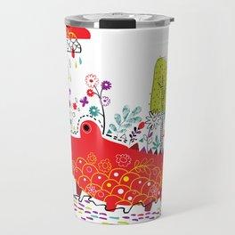 Croco-Nature Illustration Travel Mug