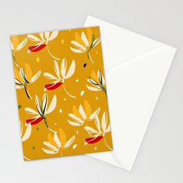 Vanilla flowers on a peanut background Stationery Cards