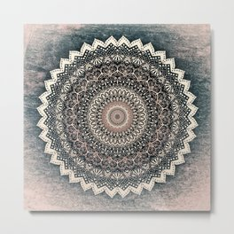 WARM WINTER MANDALA Metal Print