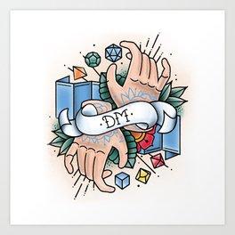 Dungeon Master - Vintage D&D Tattoos Art Print