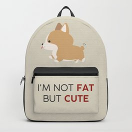 Not fat but cute corgi Backpack
