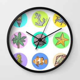 Beach Day Collection Wall Clock