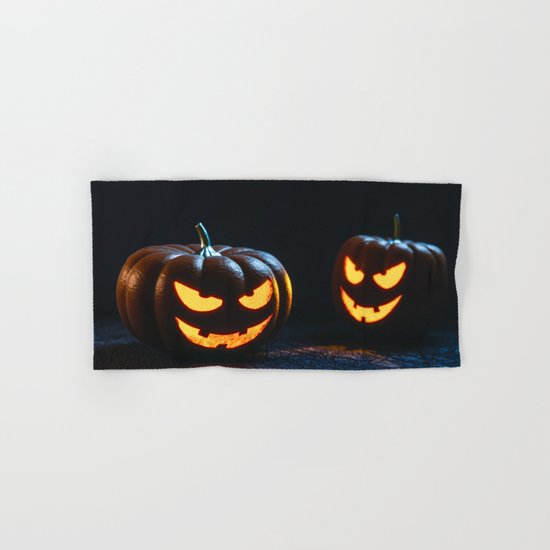 Halloween Pumpkin Lantern Hand & Bath Towel