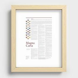 Magna Carta Recessed Framed Print