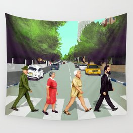 A(llen)bby road - TLV Wall Tapestry