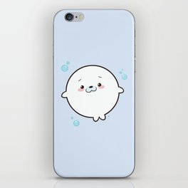 Baby Seal Kawaii iPhone Skin