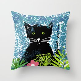 Blacky Throw Pillow
