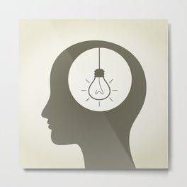 Idea in a head Metal Print