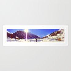 ice camp Art Print