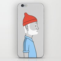 steve zissou iPhone & iPod Skins featuring Steve Zissou by Antoine Dutilh