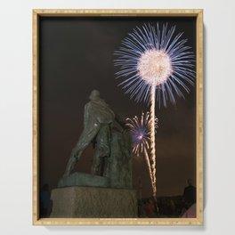 Fisherman's Memorial fireworks Serving Tray