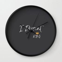 I Dissent Wall Clock