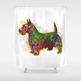 Dog 149 Fox Terrier Shower Curtain