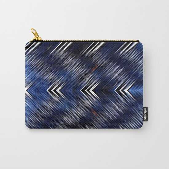 Abstract #Blue #Black #1 #art #society6 Carry-All Pouch