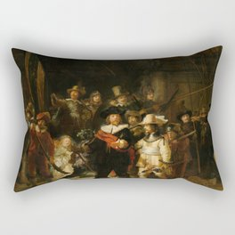 Rembrandt van Rijn - Nightwatch - Nachtwacht (1642) Rectangular Pillow