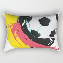 Football ball and red, yellow strokes Rectangular Pillow