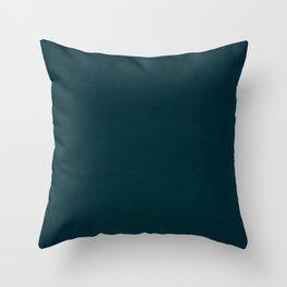 color trend petrol dark blue plain Throw Pillow