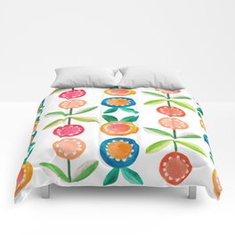 Water colour flowers Comforters