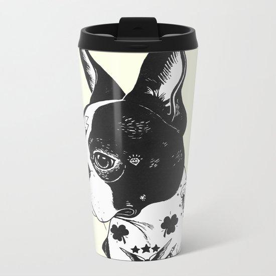 Dog - Tattooed BostonTerrier Metal Travel Mug