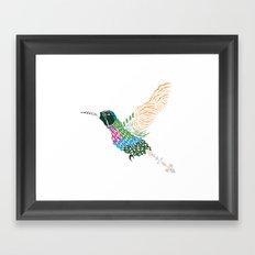 Abstract Hummingbird ~ Garnet-throated Variant Framed Art Print